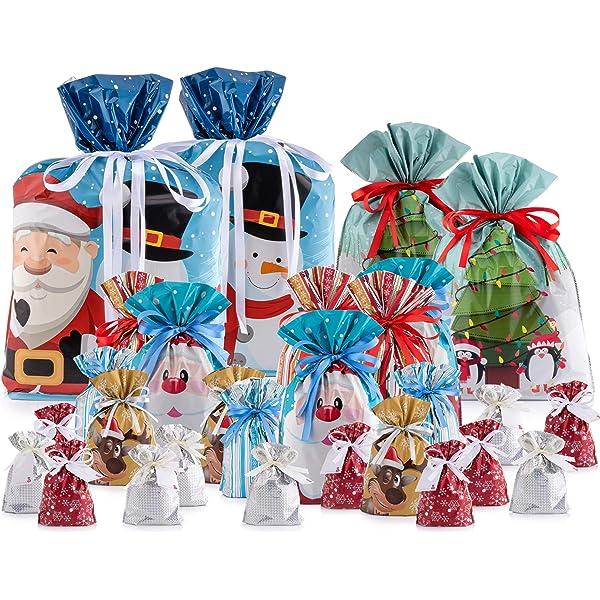 Amosfun bolsas de regalo con cordón para Navidad, bolsas de ...