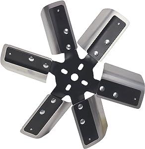 """Derale 17013 Heavy Duty Fan Blade Series 1000 13""""Stainless Steel Flex Fan Standard Rotation"""
