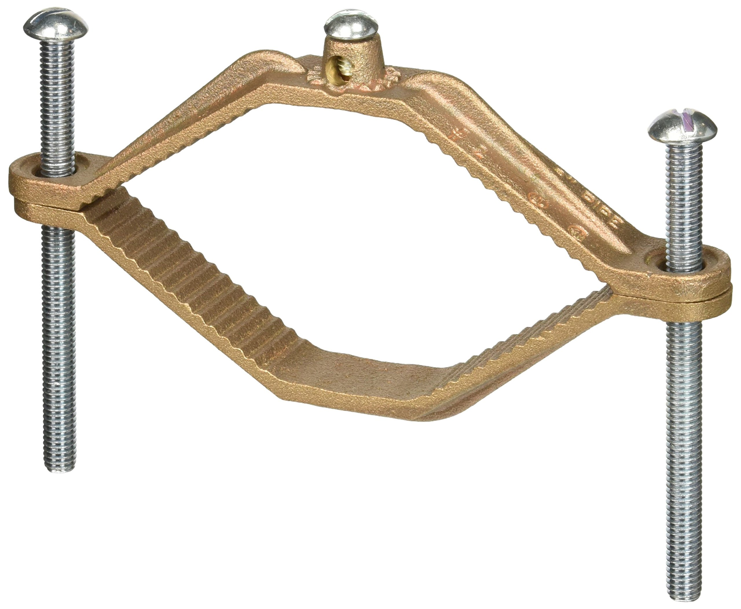 Heavy Duty Bronze Water Pipe Clamp for 4.5-6in. Pipe