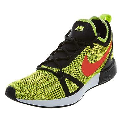 Nike Mens Duel Racer Volt/Crimson Fabric Size 8