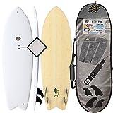 5'8 Fish Surfboard - Premium Hybrid Soft Top