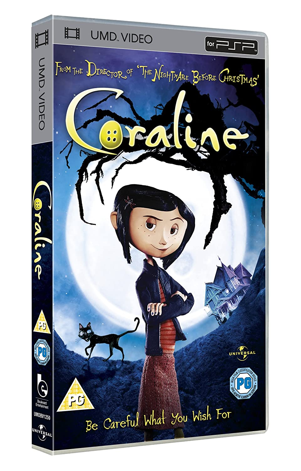 Amazon Com Coraline Umd For Psp Dakota Fanning Terri Hatcher John Hodgman Jennifer Saunders Dawn French Henry Selick Movies Tv
