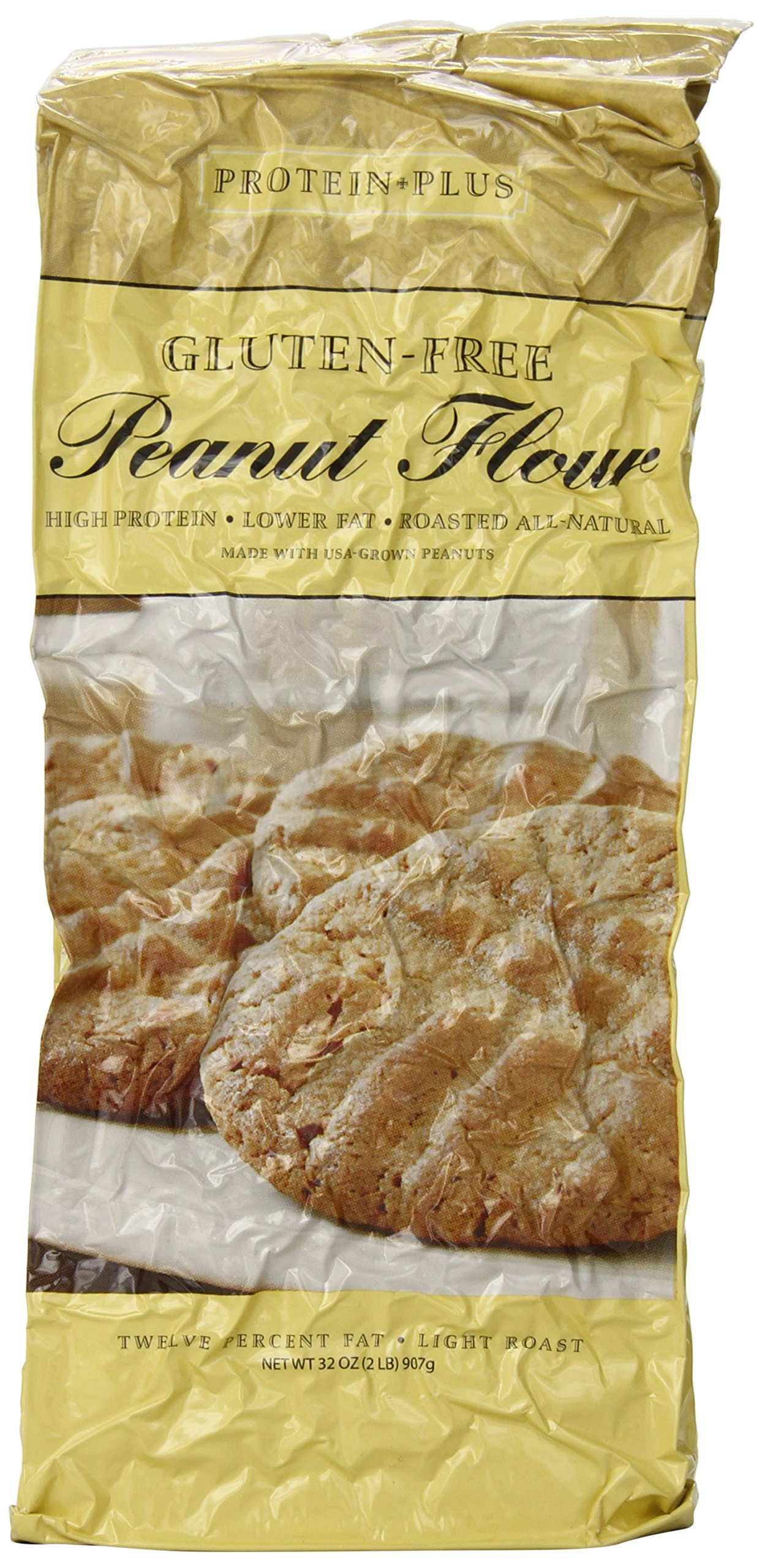 Protein Plus - Roasted All Natural Peanut Flour - 32 oz by Protein Plus (Image #1)