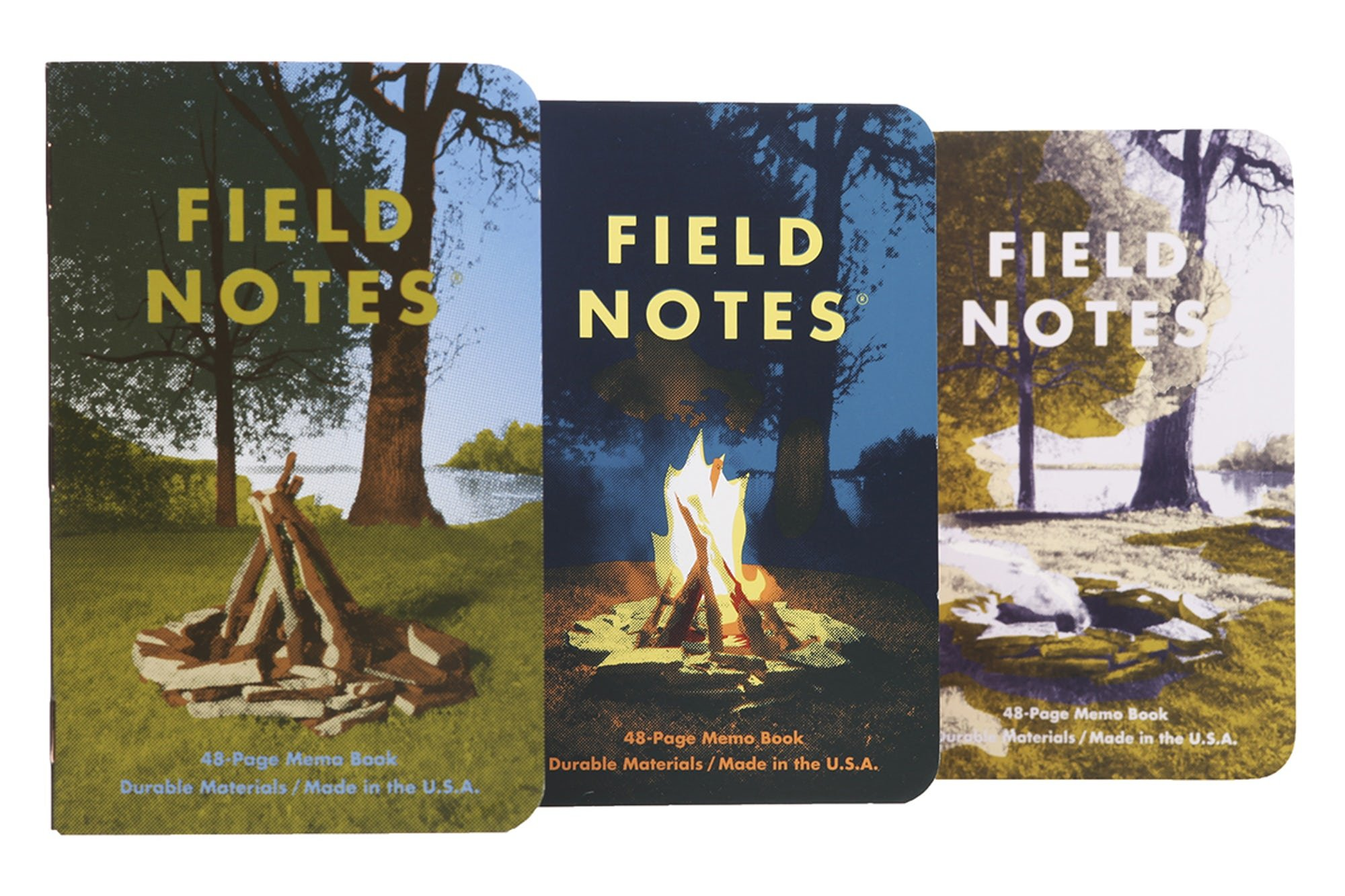 Field Notes Campfire Special Edition Memo Books, 3-Pack (3.5x5.5-Inch) Summer 2017