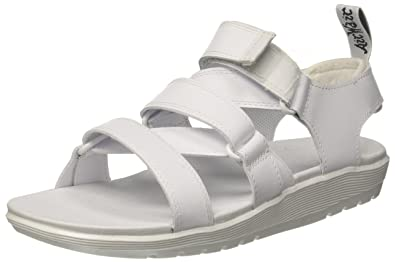 Redfin, Sandales Bout Ouvert Femme, Blanc (White 100), 41 EUDr. Martens