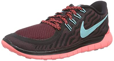 new style 0fe6b 9f826 Nike Free 5.0, Chaussures de Course Femme, Noir (Black Light Aqua-