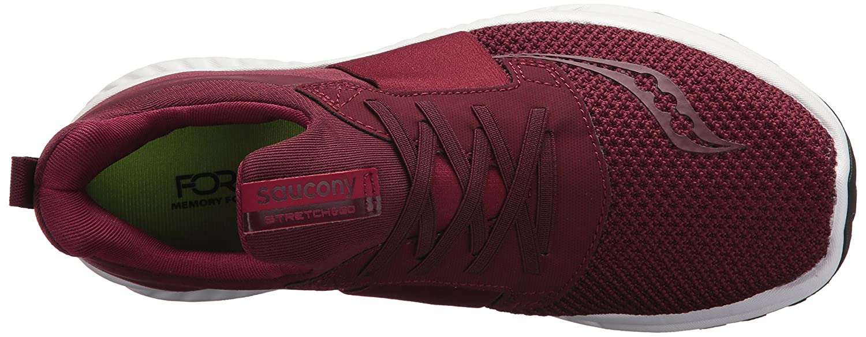 Saucony Women's Stretch N Go Breeze Running Shoe B071G2R13M 5.5 B(M) US Burgundy