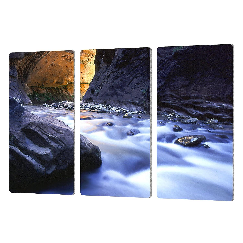 ArtWall Dean Uhlinger 3 Piece Wirgin Narrows Artmetalz Aluminum Print Set 24 by 36