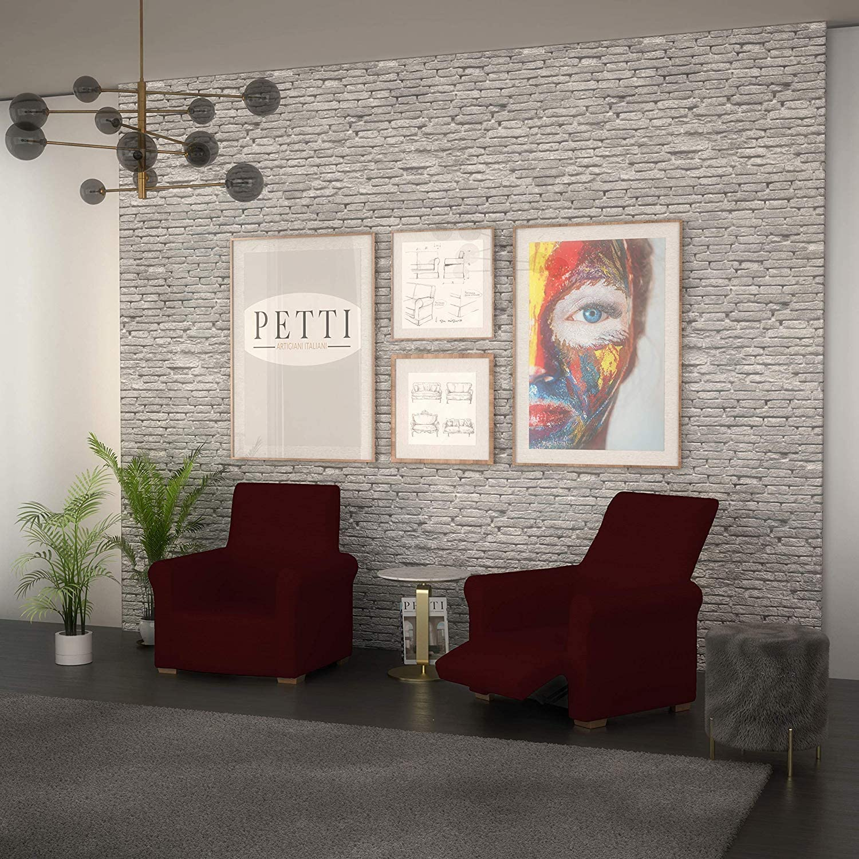 100/% Made in Italy Cobalt Housse de Fauteuil PETTI Artigiani Italiani Housse de Fauteuil Relax Elastique 80 /à 100 cm