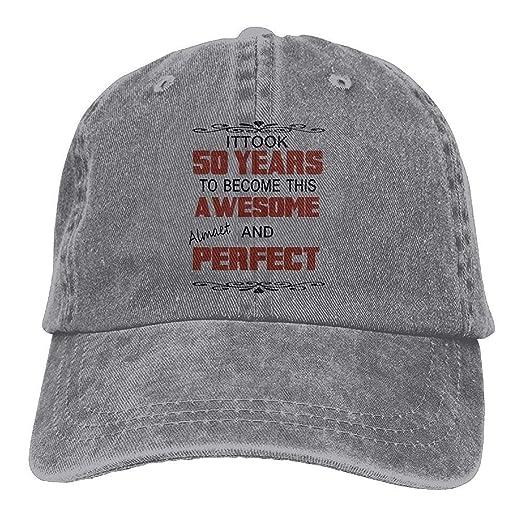eaa3b210f Amazon.com: Funny Hat Baseball Cap 50 Years Awesome Classic Jean ...