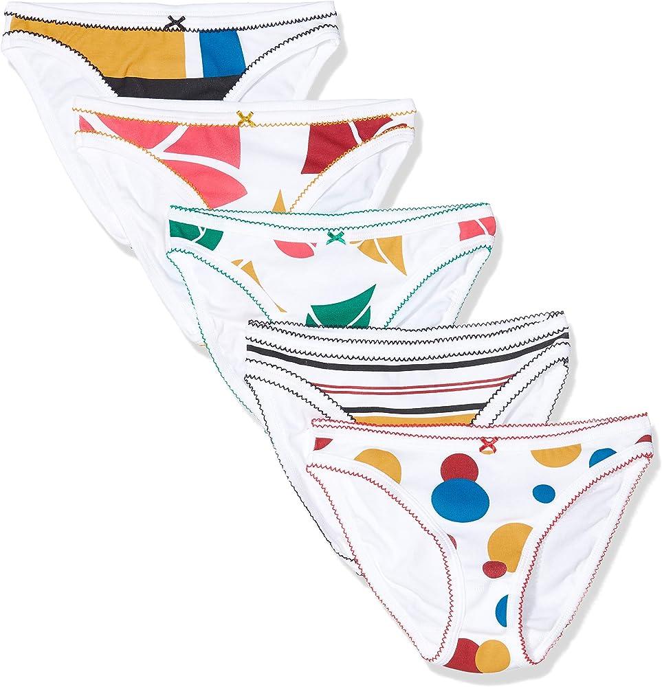 Petit Bateau Culotte_5246400 Braguita, Multicolor (Variante 1 Pack 00), 36 (Talla del Fabricante: XXS 12años) (Pack de 5) para Mujer: Amazon.es: Ropa y accesorios