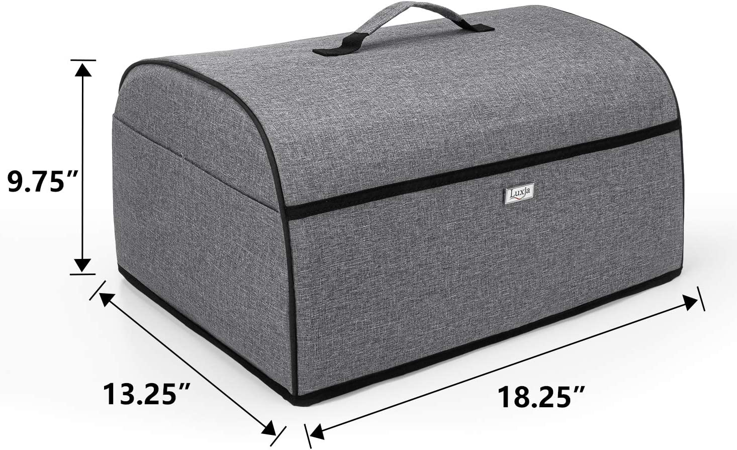 Luxja Toaster Oven Cover Compatible with Hamilton Beach 6-Slice Toaster Oven Gray