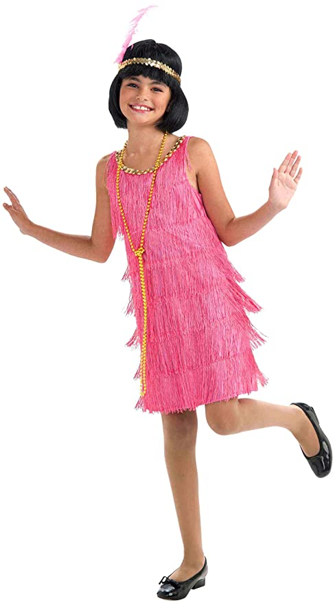 1920s Children Fashions: Girls, Boys, Baby Costumes Forum Novelties Little Miss Flapper Childs Costume Pink Medium $15.61 AT vintagedancer.com
