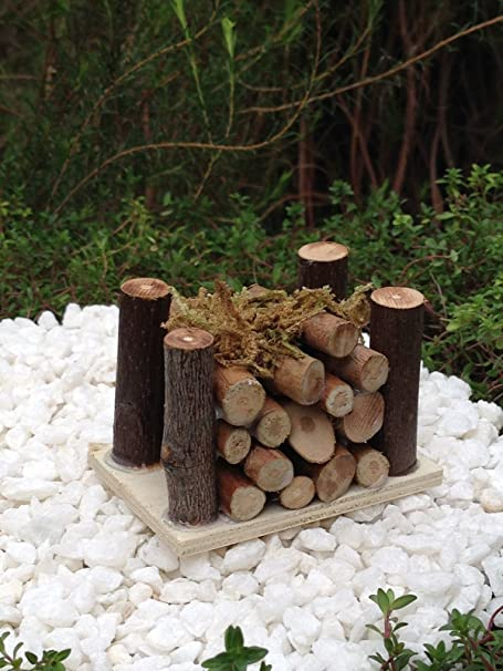 Miniature Dollhouse Fairy Garden Wood Pile w// Moss Buy 3 Save $5