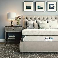 Classic Brands Cool Gel 1.0 Ultimate Gel Memory Foam 14-Inch Mattress with Bonus Pillow.
