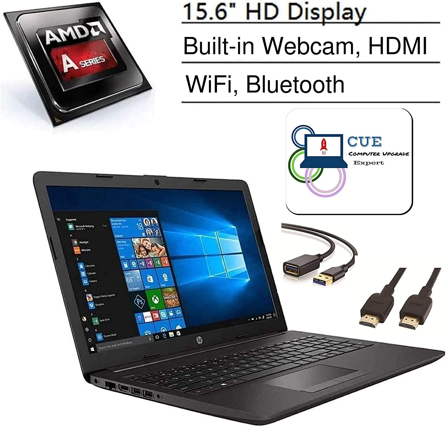 Amazon Com Hp 255 G7 15 6 Hd Display Laptop Amd A4 9125 Dual Core Processor Hdmi Card Reader Wi Fi Bluetooth Windows 10 Home Cue Accessories 4gb Ram 500gb Hdd Computers Accessories