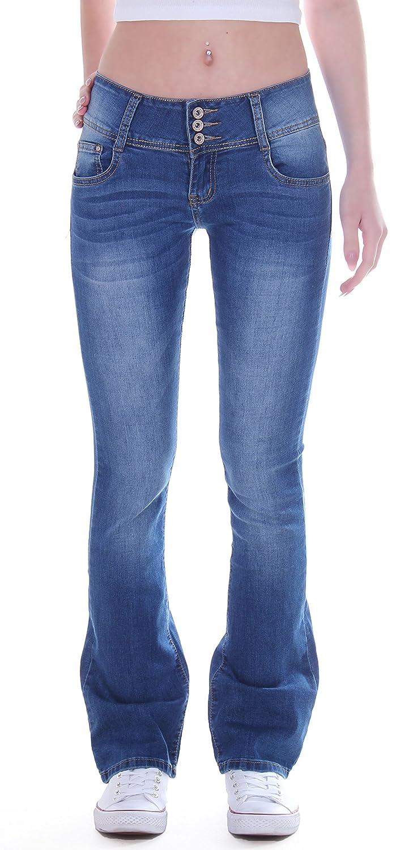 Style-Station24 - Vaqueros - Pantalones Boot Cut - para Mujer