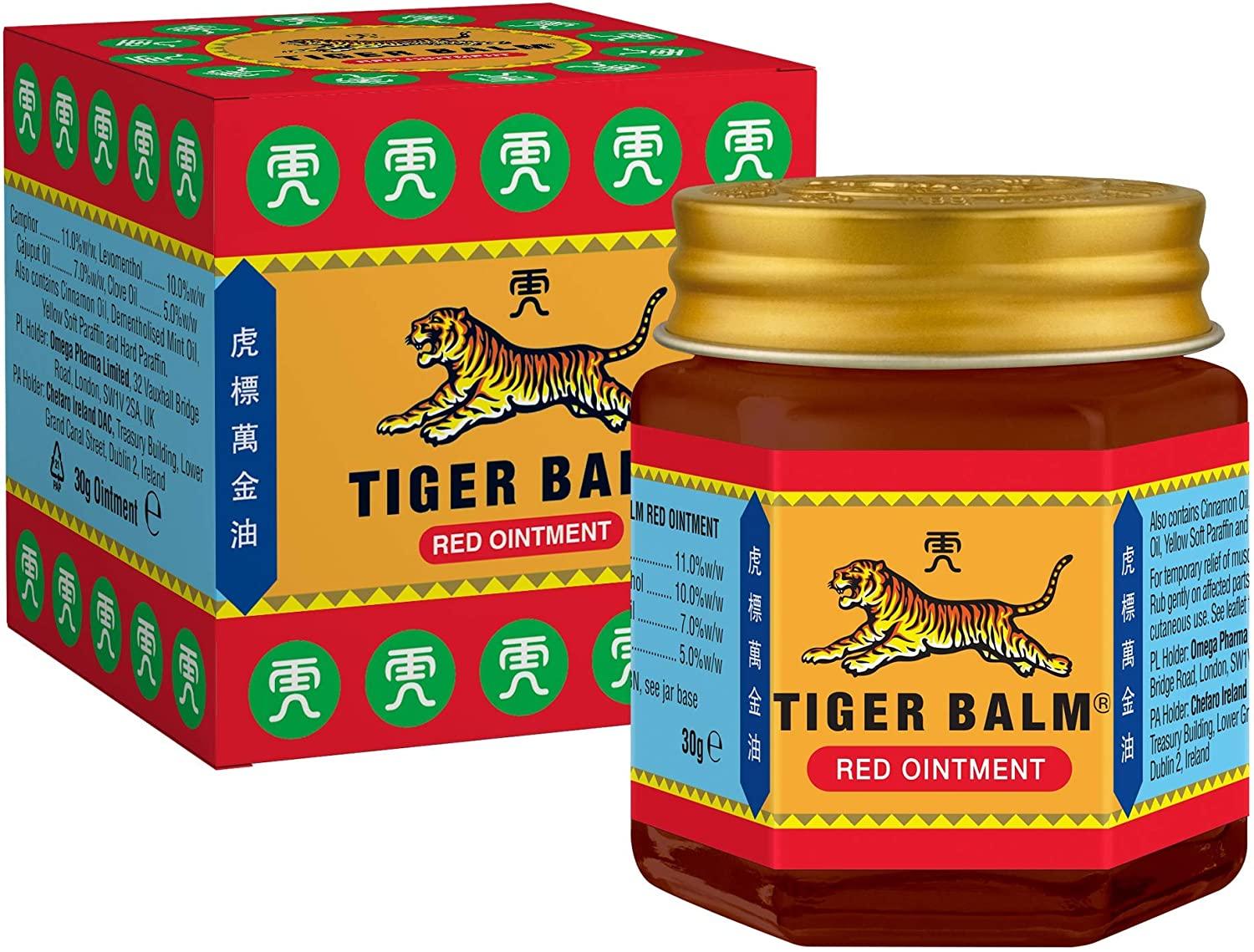 Tiger Balm Red Ointment 30 G Temporary Relief From Minor Muscular Aches And Pains Amazon Co Uk Health Personal Care