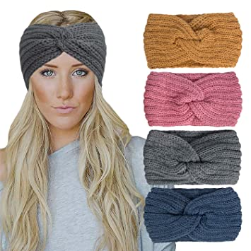 Multiple colors available. Twisted Turban Woman/'s Ear warmer