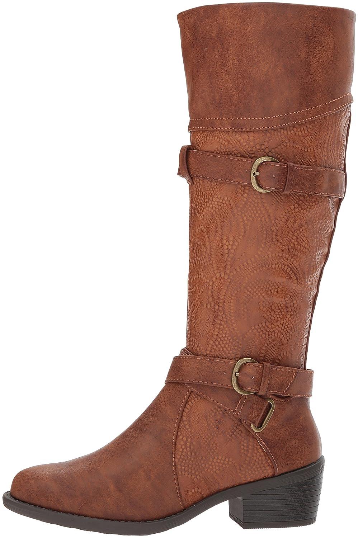 Easy Street Women's Kelsa Harness Boot B072C8ZKFL 9 W US|Tan/Embossed