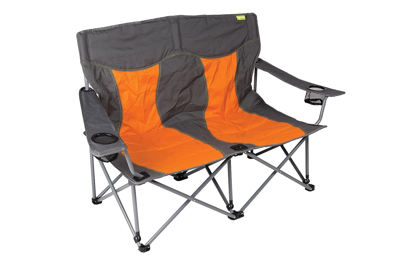 Kampa Lofa Camping-Klappstuhl, 2-Sitzer, in Orange (Burnt Orange)