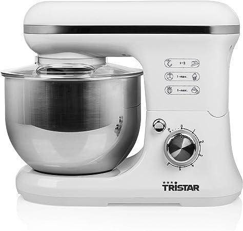 Tristar MX-4817 Robot de Cocina – 3 Accesorios incluidos – Blanco, 1200 W, Acero Inoxidable, 6 Velocidades: Amazon.es: Hogar