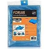 Lona de Polietileno Foxlux – Azul – 5M x 4M – 150 micras – Lona plástica com ilhós – Impermeável – Multiuso
