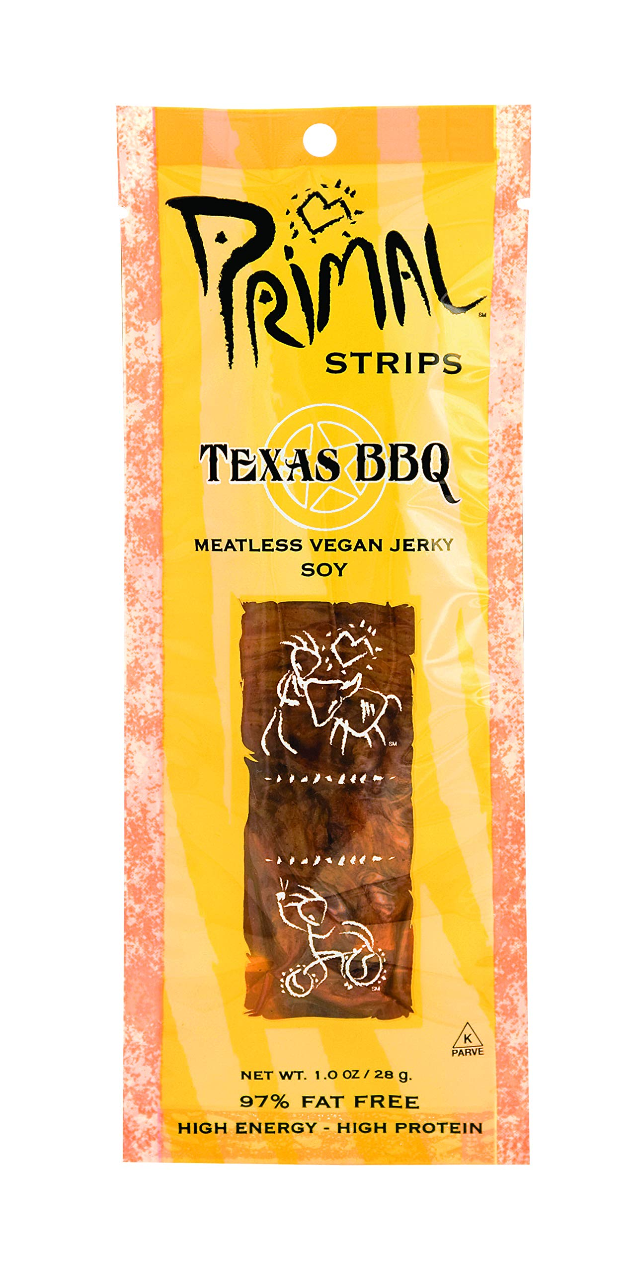 Primal Strips Soy Texas Bbq Meatless Jerky, 1 oz by Primal Strips (Image #1)