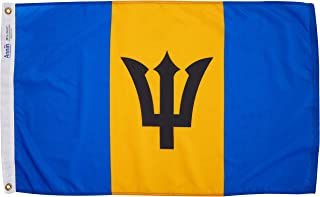 product image for Annin Flagmakers Model 190535 Barbados Flag Nylon SolarGuard NYL-Glo, 2x3 ft, 100% Made in USA to Official United Nations Design Specifications