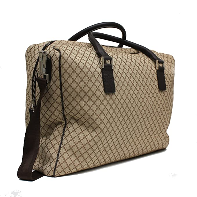 52411abcc1d5 Gucci Beige Diamante Canvas Leather Large Travel Duffle Carry-On Luggage Bag  196356: Amazon.ca: Clothing & Accessories