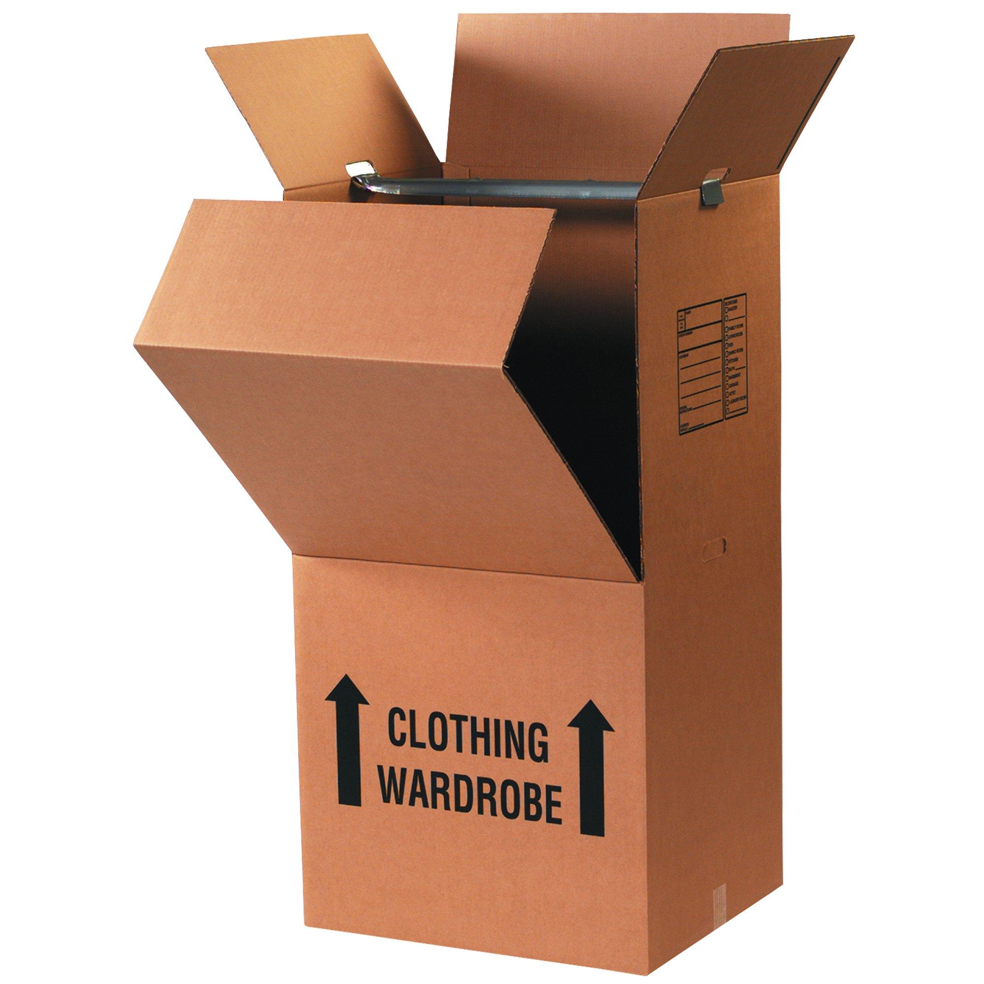 Tape Logic TLWARDCOMBO Wardrobe Box Combo Pack, Kraft, 3 Sets (Pack of 3) by Tape Logic