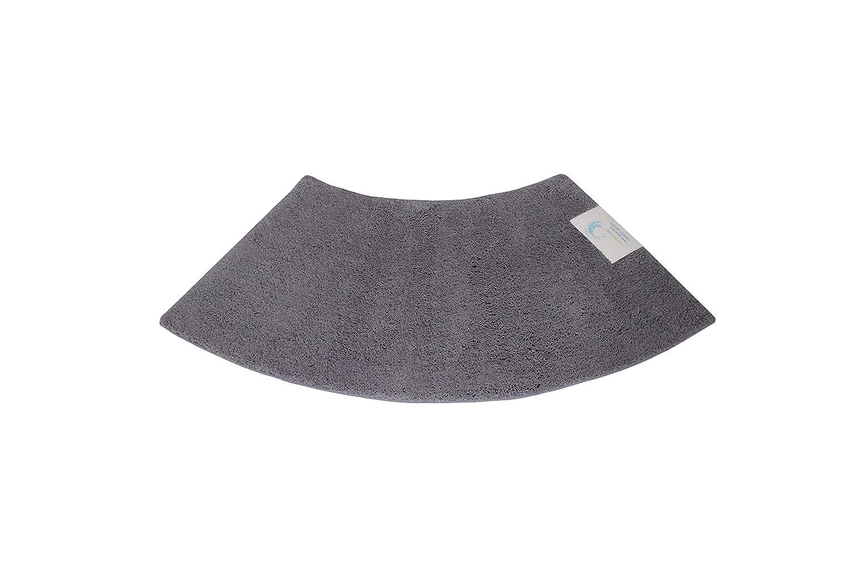 Cazsplash Luxury Quadrant Medium Curved Shower Mat, Microfibre, Grey, 110 x 45 x 2.5 cm 706502080433