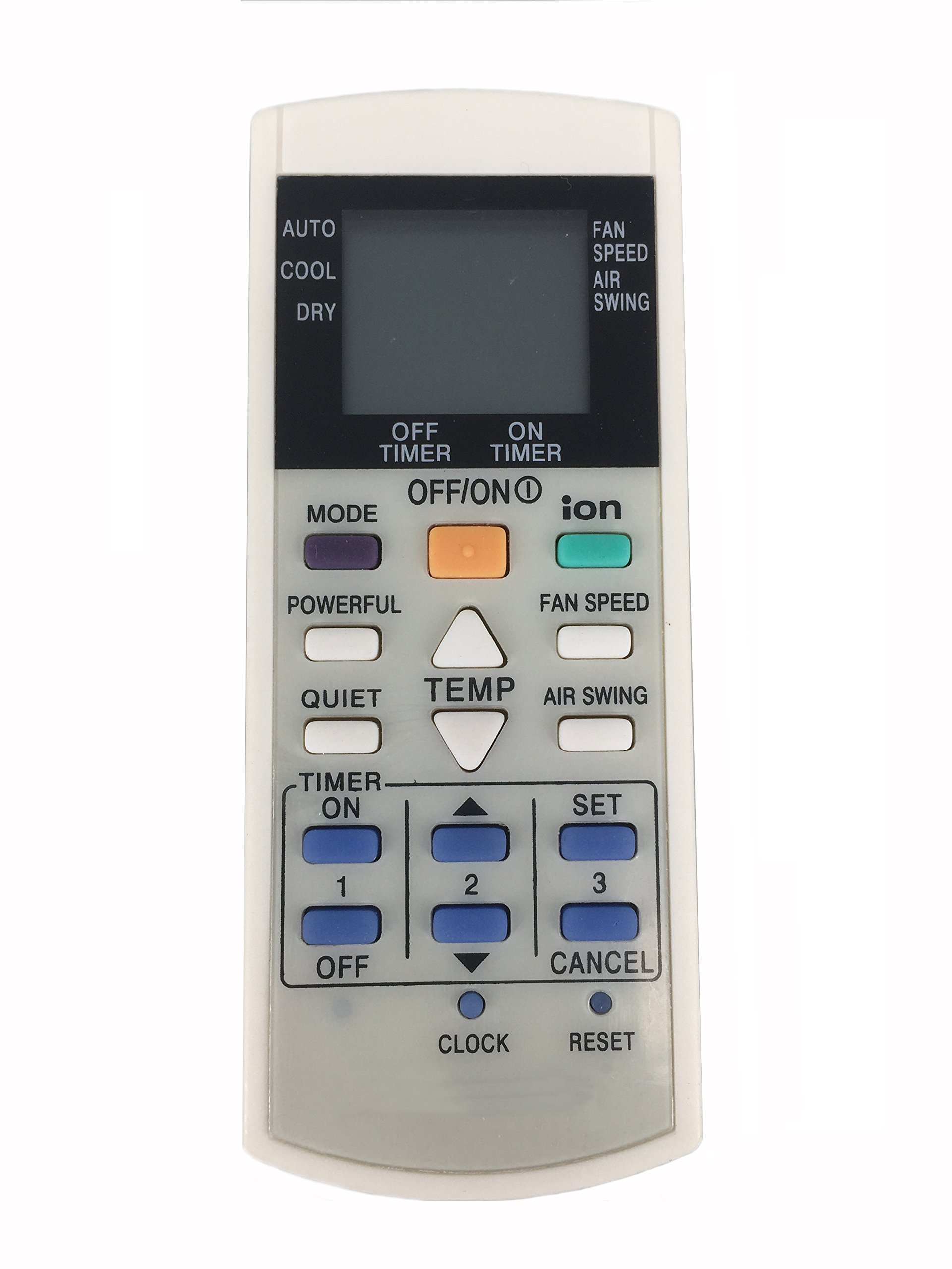 Meide Remote Control for PANASONIC Air Conditioner A75C2600 A75C2602 A75C2606 A75C2628 A75C2632 A75C2656 A75C2658 A75C3299 AT75C3299