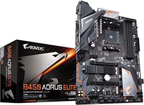 Amazon Com Gigabyte B450 Aorus Elite Amd Ryzen Am4 Atx M 2 Thermal Guard Hmdi Dvi Usb 3 1 Ddr4 Motherboard Computers Accessories