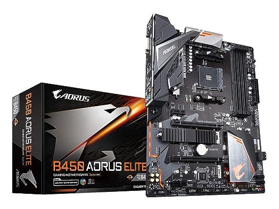 GIGABYTE B450 AORUS Elite (AMD Ryzen AM4/ M 2 Thermal Guard/Hmdi/DVI/USB  3 1/DDR4/ATX/Motherboard)