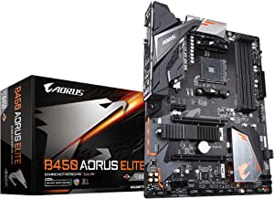 GIGABYTE B450 AORUS ELITE (AMD Ryzen AM4/ATX/M.2 Thermal Guard/Hmdi/DVI/USB 3.1/DDR4/Motherboard)