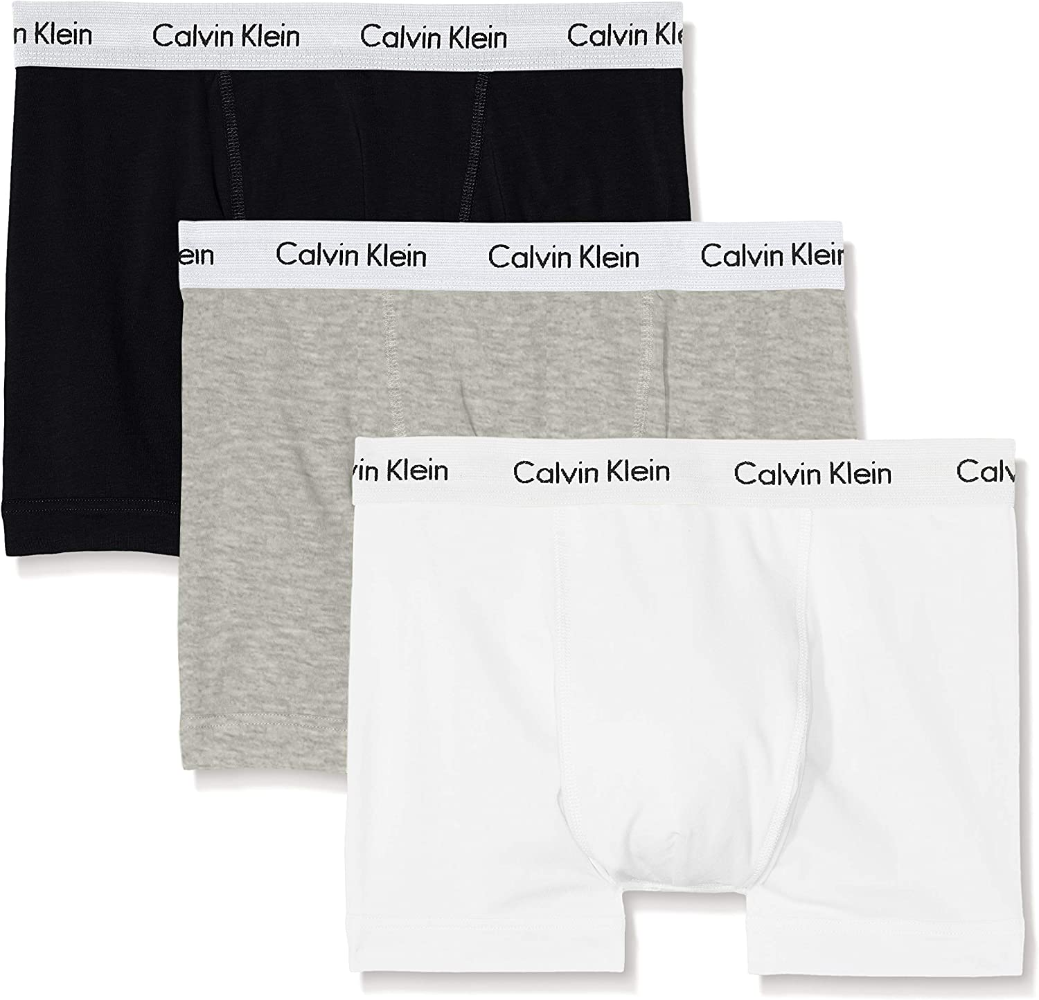 Calvin Klein Hombre - Pack de 3 bóxers de tiro medio - Cotton Stretch