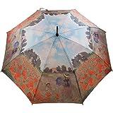 Grand Parapluie Droit à Peinture de Claude Monet - Les Coquelicots