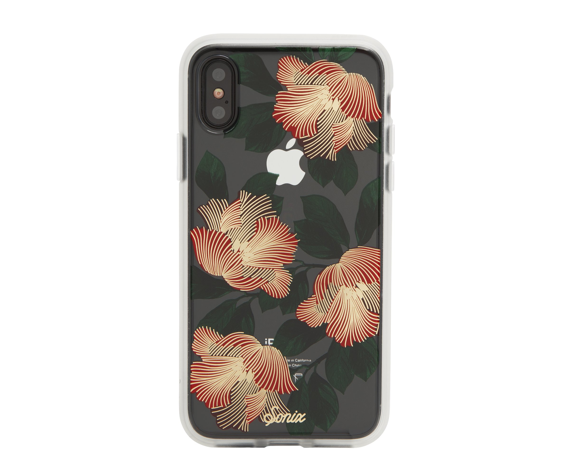 """iPhone X, Sonix TROPICAL DECO Cell Phone Case with TEMPERED GLASS SCREEN PROTECTOR - SONIX Clear Coat Series Case for Apple (5.8"""") iPhone X"""