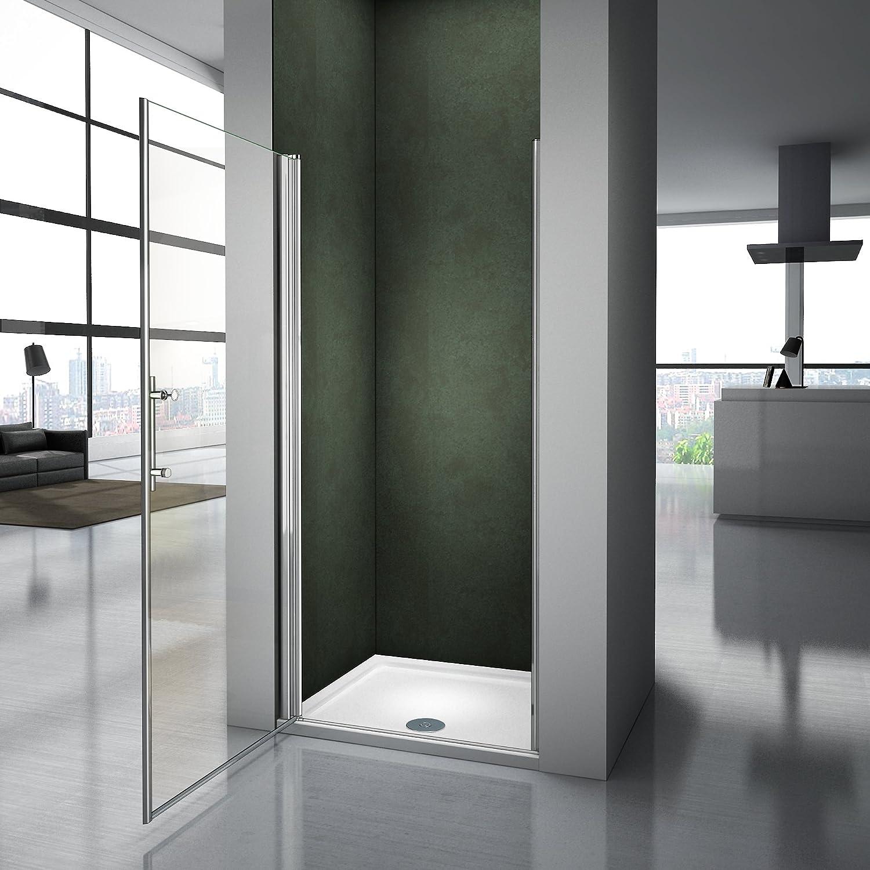 Porte de douche 90x187cm pivotante et pliante en niche mod/èle de H/élien