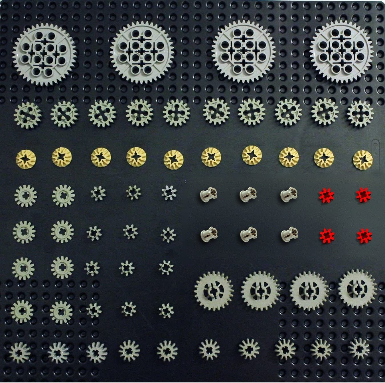 technic,mindstorms,nxt,ev3,robot,gear,bush,connector,car Lego AXLES Sample Kit