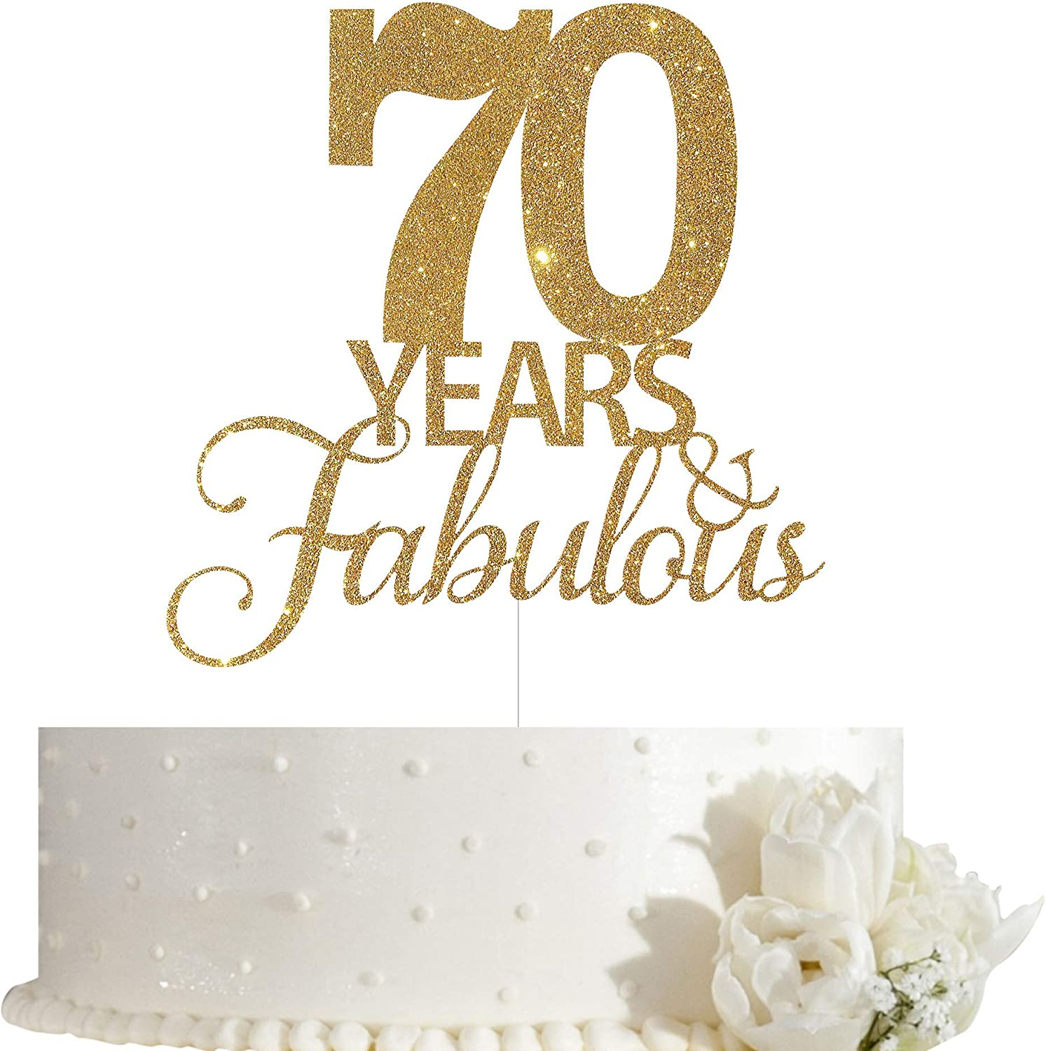 Stupendous Amazon Com 70 Years Fabulous Cake Topper 70Th Birthday Cake Funny Birthday Cards Online Aboleapandamsfinfo
