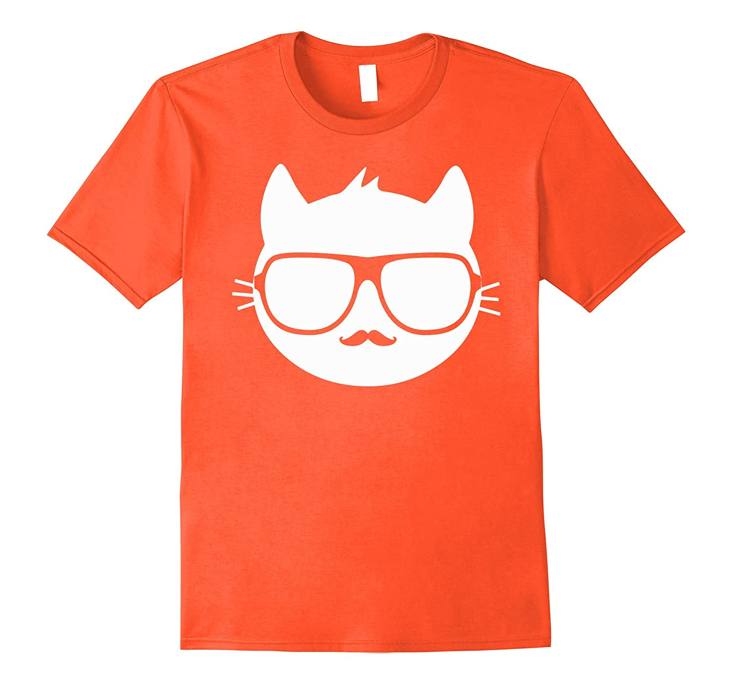 6a6d3b59c2 ... Crazy Cool Mad Kitty Cat With Glasses And Mustache T-Shirt-Newstyleth  ...