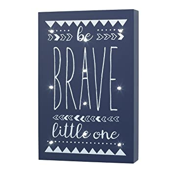 Amazon little love by nojo aztec lighted wall decor be brave little love by nojo aztec lighted wall decor be brave little one navy aloadofball Choice Image