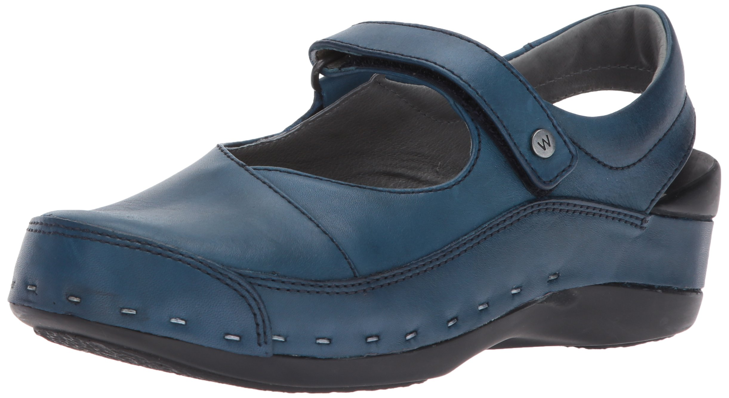 Wolky Women's Strap-Cloggy Blue Vegi Leather 40 European by Wolky