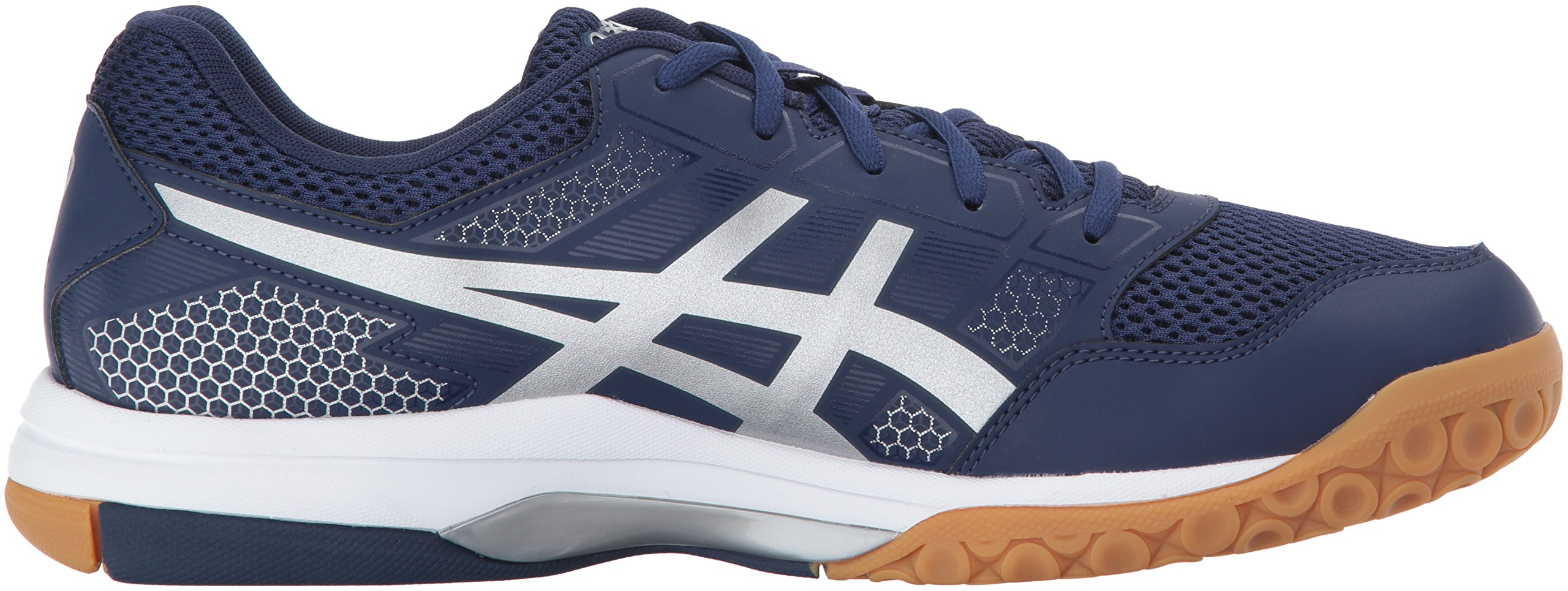37125368357 ASICS Mens Gel-Rocket 8 Volleyball Shoe Indigo Blue/Silver/White 8 ...