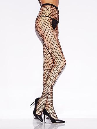 5872137de2444 Ann Summers Womens Fishnet Tights Semi-Sheer Fishnet Sexy High Waist Hosiery  Black S-M: Amazon.co.uk: Clothing