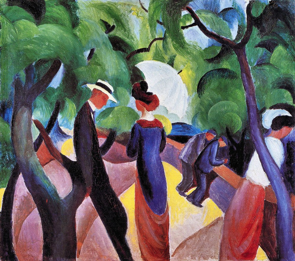 House in the Garden by August Macke Giclee Fine ArtPrint Repro on Canvas