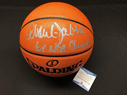 d983d97f779 Kareem Abdul-Jabbar Signed NBA Replica Game Basketball