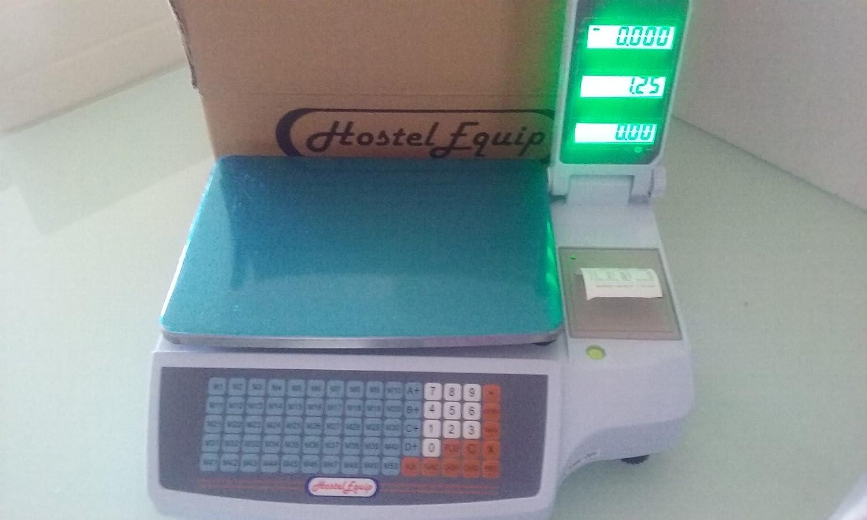 balanza bascula con impresora de ticket programable y 4 vendedores: Amazon.es: Electrónica